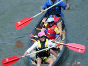 Family Canoeing Lehigh and Delaware Twin Rivers