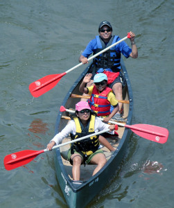 father sons canoeing Lehigh Delaware Twin Rivers