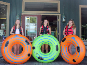 Girls Tubing on the Lehigh Delaware at Twin Rivers