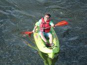 Man Kayaking Lehigh and Delaware Twin Rivers