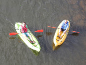 Guys Kayaking Lehigh and Delaware Twin Rivers
