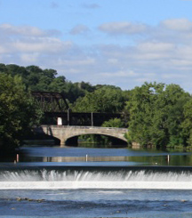 Lehigh River Falls Easton, PA