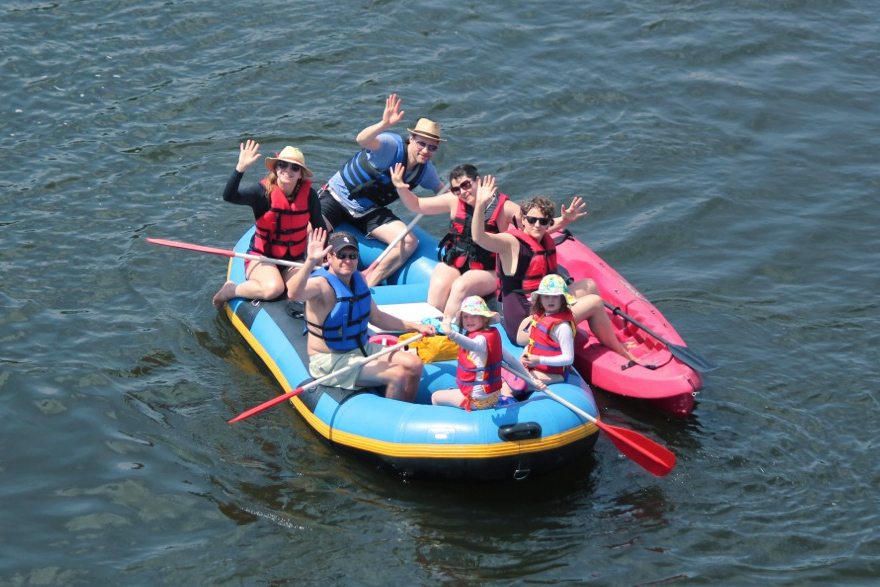 Family Rafting and Kayaking Lehigh and Delaware Twin Rivers