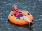 Woman Tubing Lehigh and Delaware Twin Rivers
